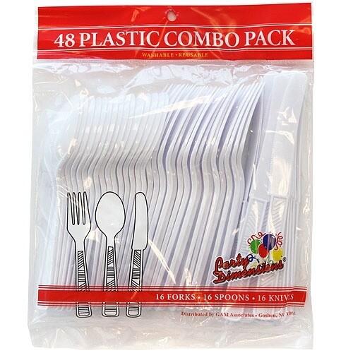 48 Plastic Combo Pack - White