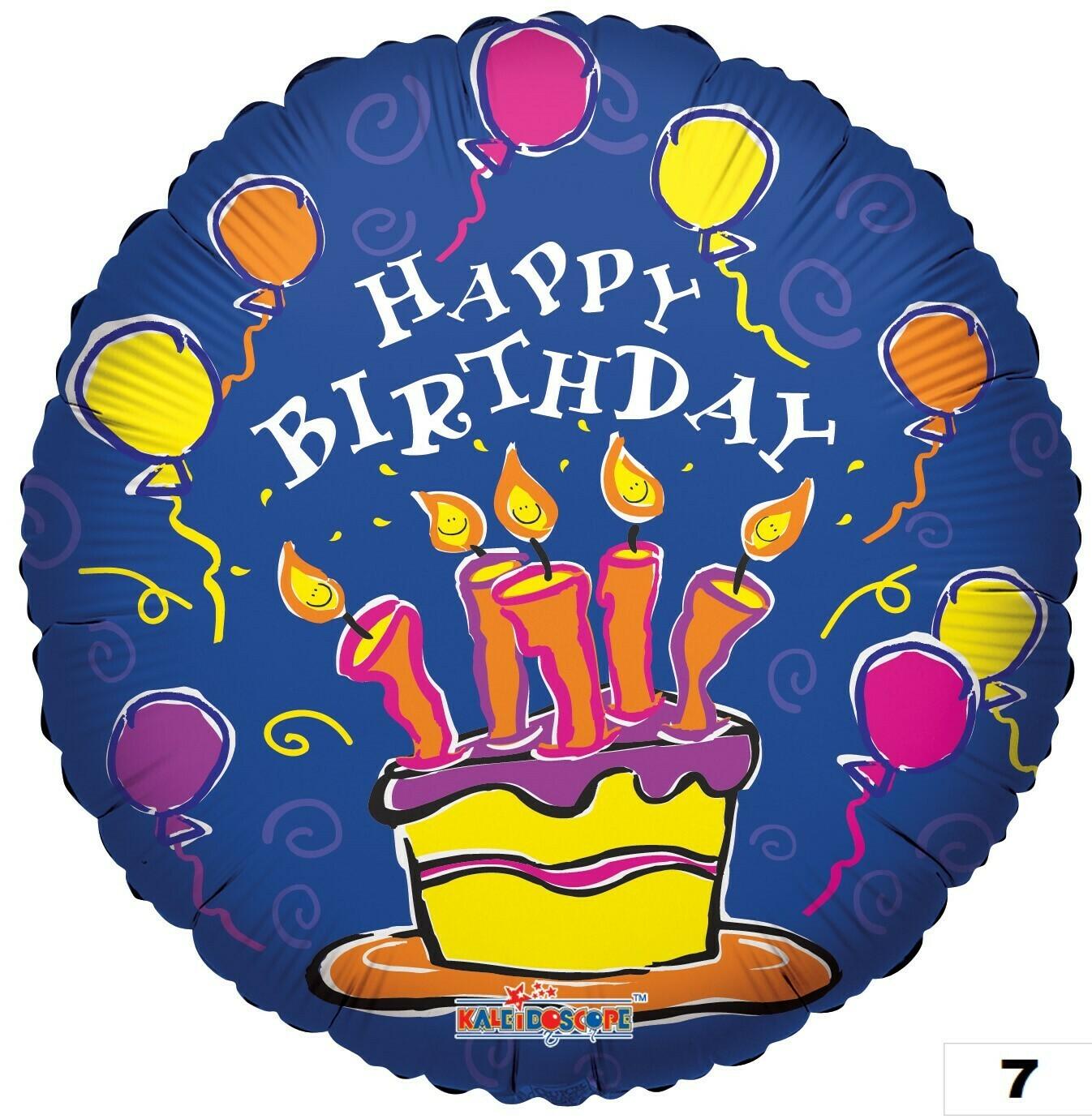 Cake & Balloons - Blue