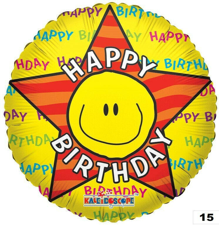 Birthday Smiley Star