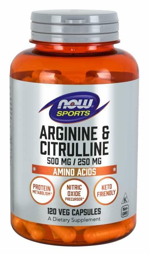 NOW Foods Arginine & Citrulline Caps