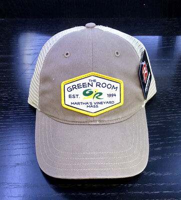 Green Room Logo Washed Trucker Tan