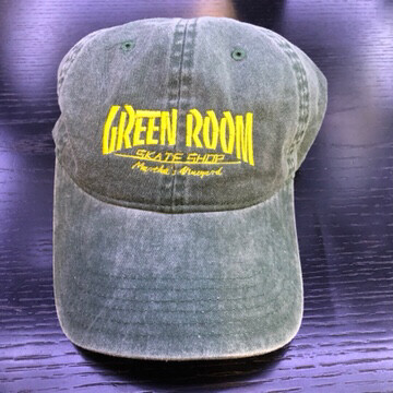 Green Room Thrasher Hat Washed Green