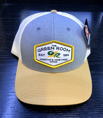 Green Room Logo Trucker Grey w/Tan