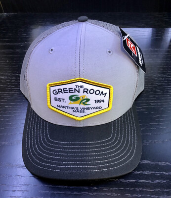 Green Room Logo Trucker Grey