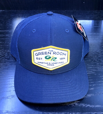 Green Room Logo Trucker Blue
