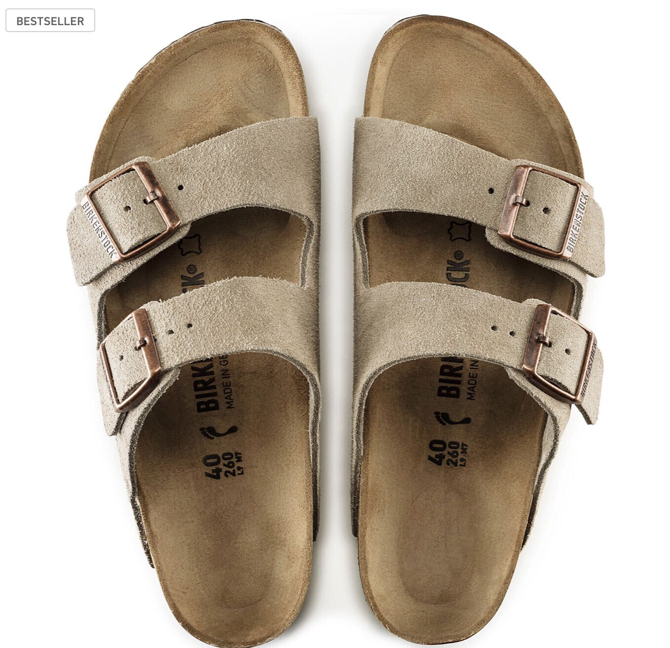 Birkenstock W's Arizona Taupe Suede SF Narrow