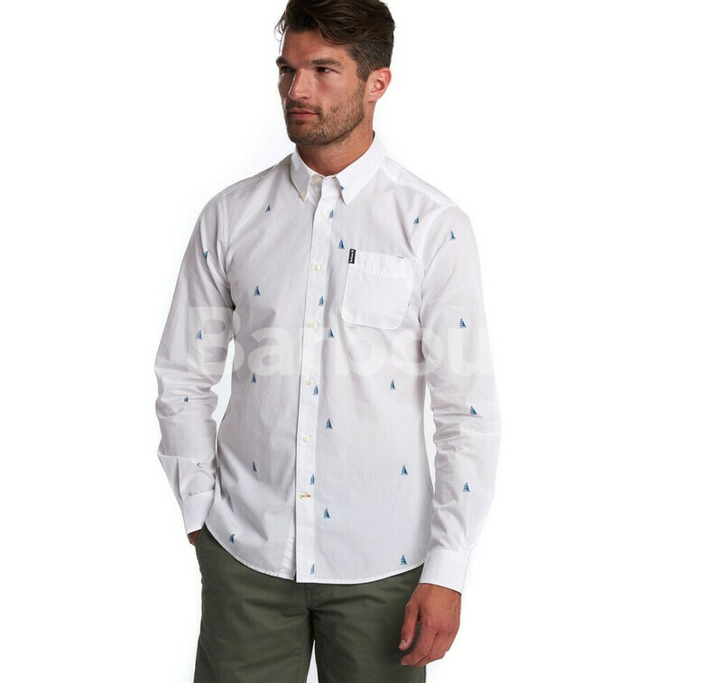 Barbour M's Summer Print White