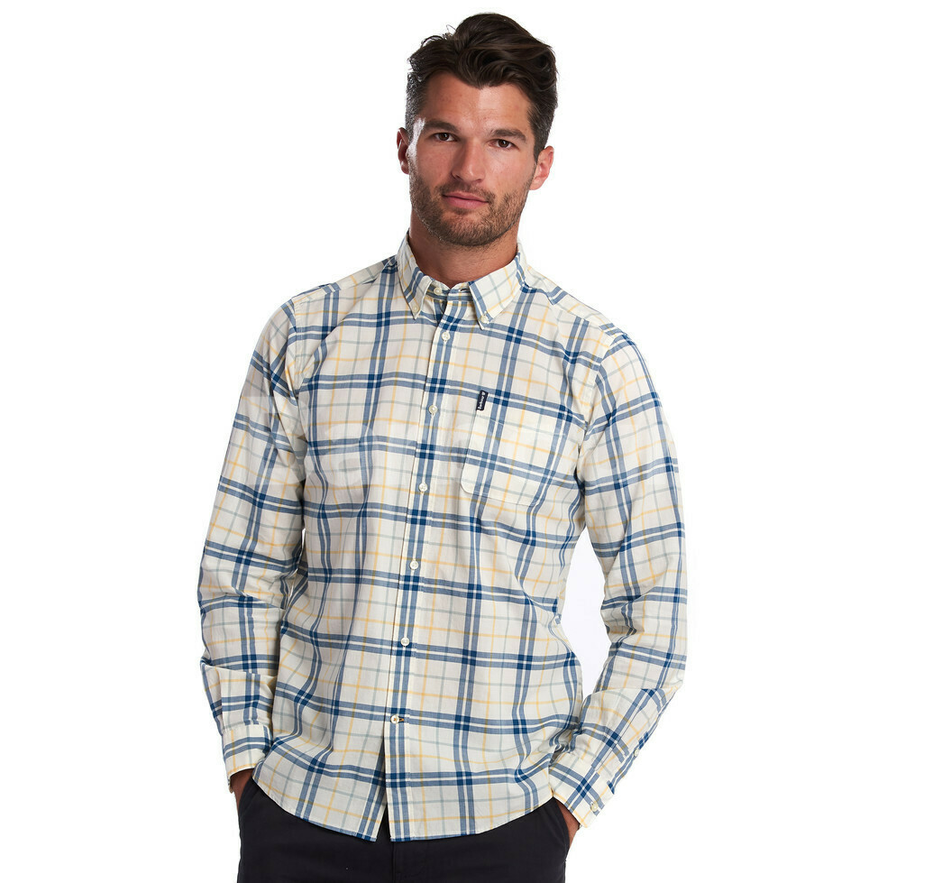 Barbour M's Madras 4 Tailored