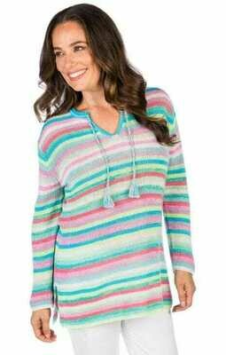 Claudia Nicole Caftan Multi Color Stripe