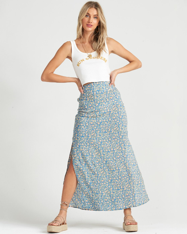Billabong By the Water Skirt French Blue