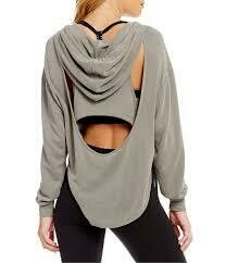 Free People Back Into It Hoodie Grey