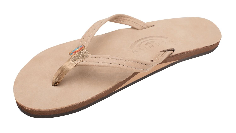 Rainbow W's Single Layer Narrow Strap Sandals Sierra Brown