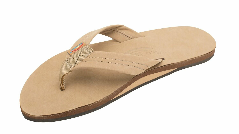 Rainbow M's Single Layer Regular Strap Sandal Sierra Brown