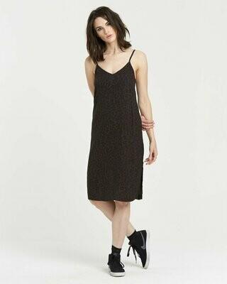Element Roberta Dress Black Leopard