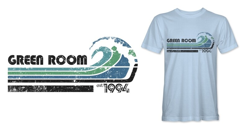 Mussel Tees Green Room Vintage Wave Tee MULTIPLE COLORS AVAILABLE