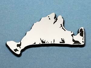 Island Emblems Chrome Martha's Vineyard Car Emblem