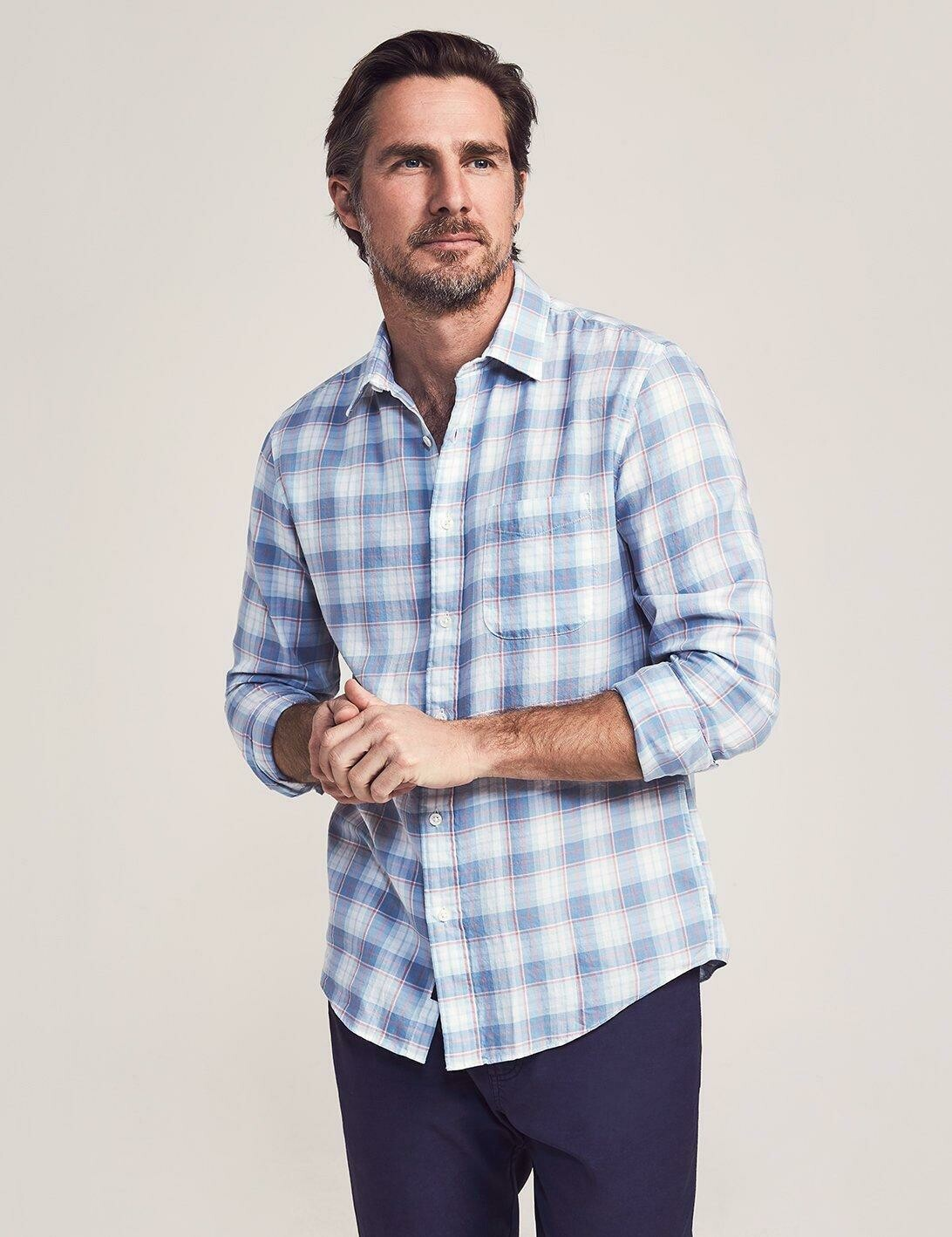 Faherty Cloud Cotton Everyday Shirt Windward Plaid