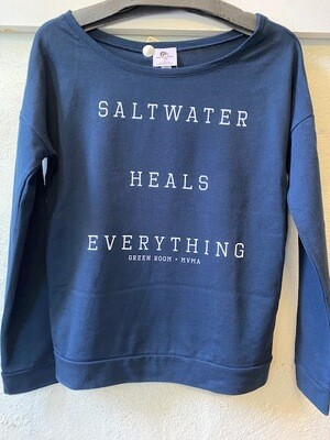 Green Room Saltwater Heals L/S Terry Scoop Top