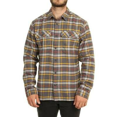 Patagonia M's Long Sleeve Fjord Flannel Independence: Forge Grey