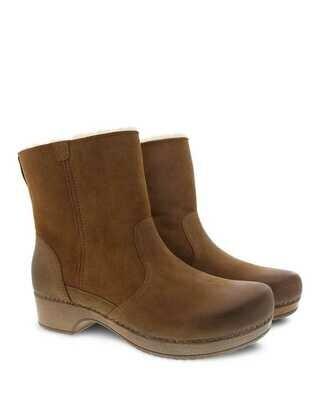 Dansko Bettie Boot Honey w/Shearling
