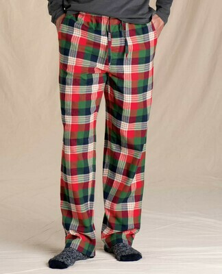 Toad & Co M's Shuteye Flannel Pajama Pant MULTIPLE COLORS AVAILABLE