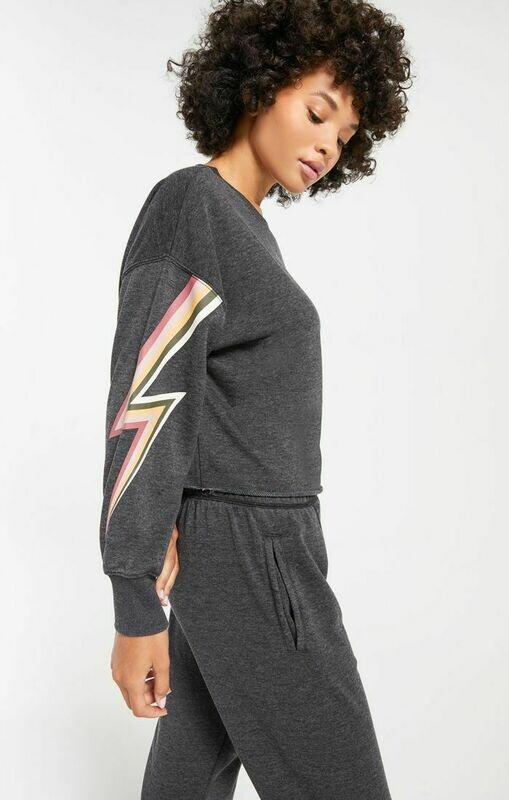 Z Supply Jayde Bolt Pullover Black