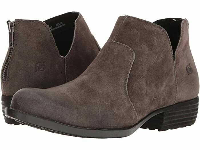 BORN Kerri Ankle Boot Dark Grey Suede