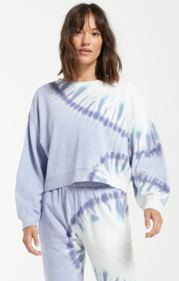 Z Supply Sunburst Tie-Dye Sweatshirt MULTIPLE COLORS AVAILABLE