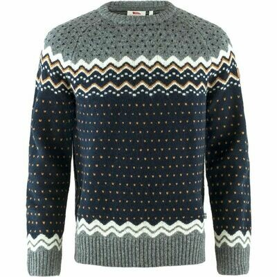 Fjall Raven Ovik Knit Wool Sweater Dark Navy