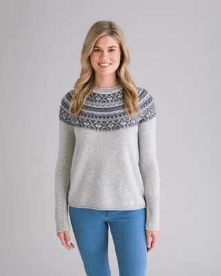 Claudia Nicole Iceland Merino and Cashmere Sweater Ash Combo