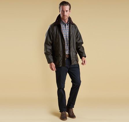 Barbour M's Beadale Classic Waxed Jacket Olive