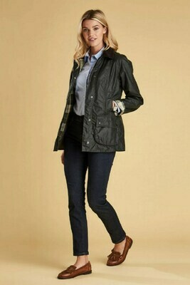 Barbour W's Beadnell Waxed Jacket Sage