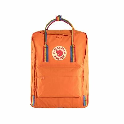 Fjall Raven Kanken Backpack Burnt Orange Rainbow