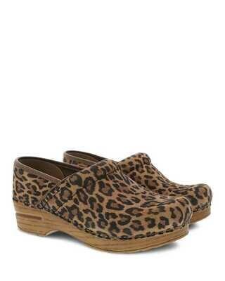 Dansko W's Professional Leopard Suede Clog