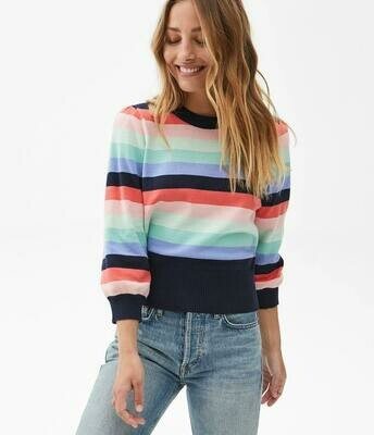 Michael Stars W's Dolly 3/4 Sleeve Cotton Sweater Multicolor