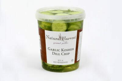 NATURAL HARVEST GARLIC KOSHER DILL CHIP 32OZ