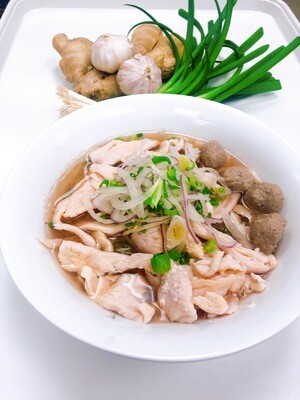 319- Chicken and Beef Ball Rice Noodle Soup