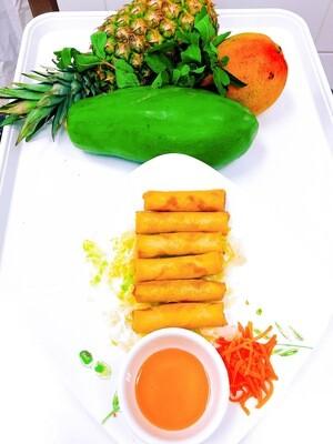 102- Deep Fried Chicken and Shrimp Rolls