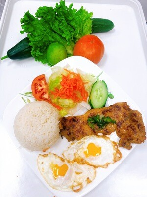 502- Grilled Chicken with Steamed Rice (Plus Two Items)