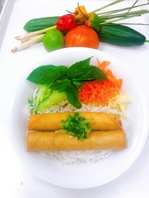 411- Vermicelli with Spring Rolls (2 Rolls)