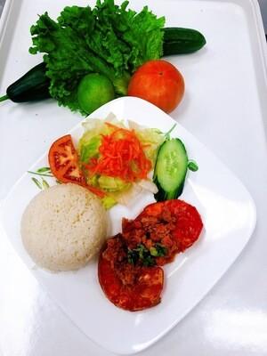 508- Sauteed Jumbo Shrimp (2 pcs) on Steamed Rice