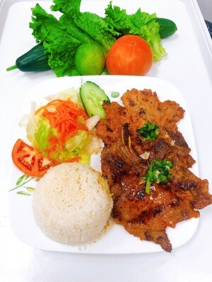 503- Grilled Pork Chop with Steamed Rice (2 pcs)