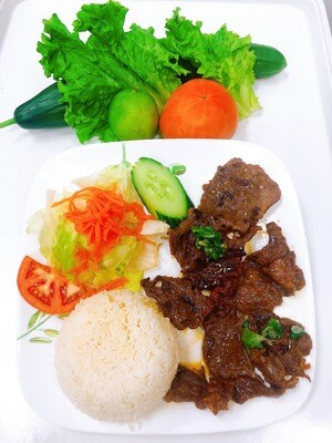512- Grilled Beef on Steamed Rice