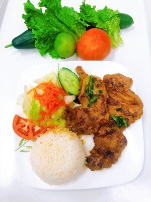 504- Grilled Chicken with Steamed Rice (2 pcs)