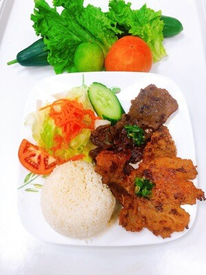 511- Grilled Beef on Steamed Rice (Plus One Item)