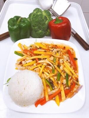 706- Mango Stir Fried with Steamed Rice