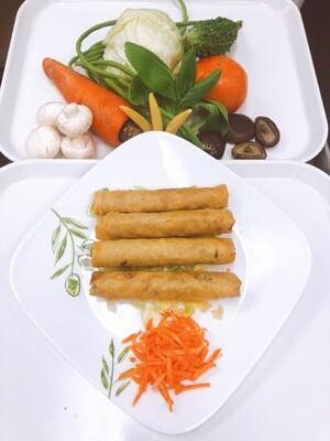 601- Deep Fried Vegetarian Spring Rolls