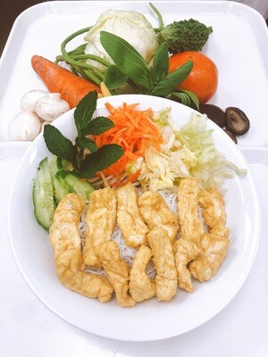 616- Vermicelli with Vegetable and Fried Tofu