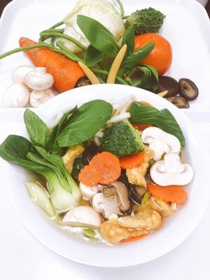 617- Vegetables, Mushroom, and Tofu with Udon Noodle Soup
