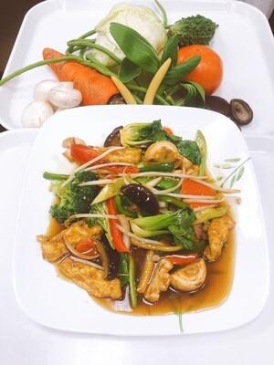 604- Stir Fried Vegetables, Mushrooms, and Tofu